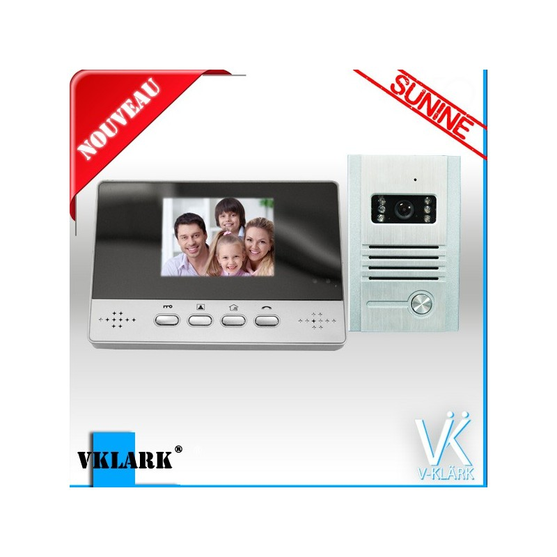 Vklark - Interphone Visiophone sans-fil - VISIOPHONE et PORTIER ...