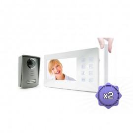 Interphone vidéo V-Klark tactil - PACK DUO