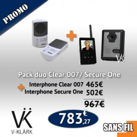 Pack Duo  Interphone Secure One + Interphone Clear 007