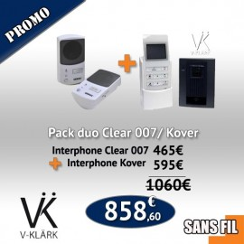 Pack Duo  Interphone Clear 007 + Interphone Kover