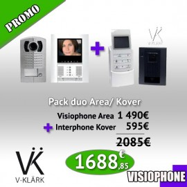 Pack Duo Visiophone Area + Interphone Kover