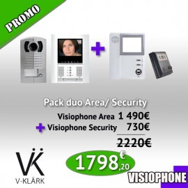 Pack Duo Visiophone Area + Interphone Security One