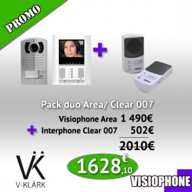 Pack Duo Visiophone Area + Interphone Clear 007