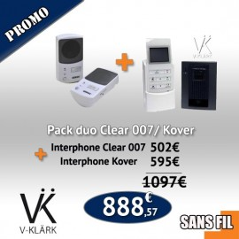 Pack duo interphone Clear 007/ Kover